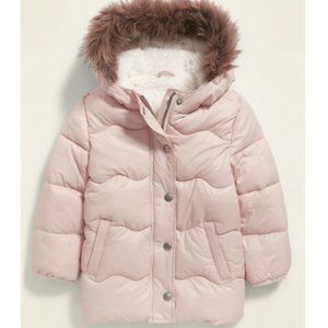 Pink Puffer Jacket - Old Navy